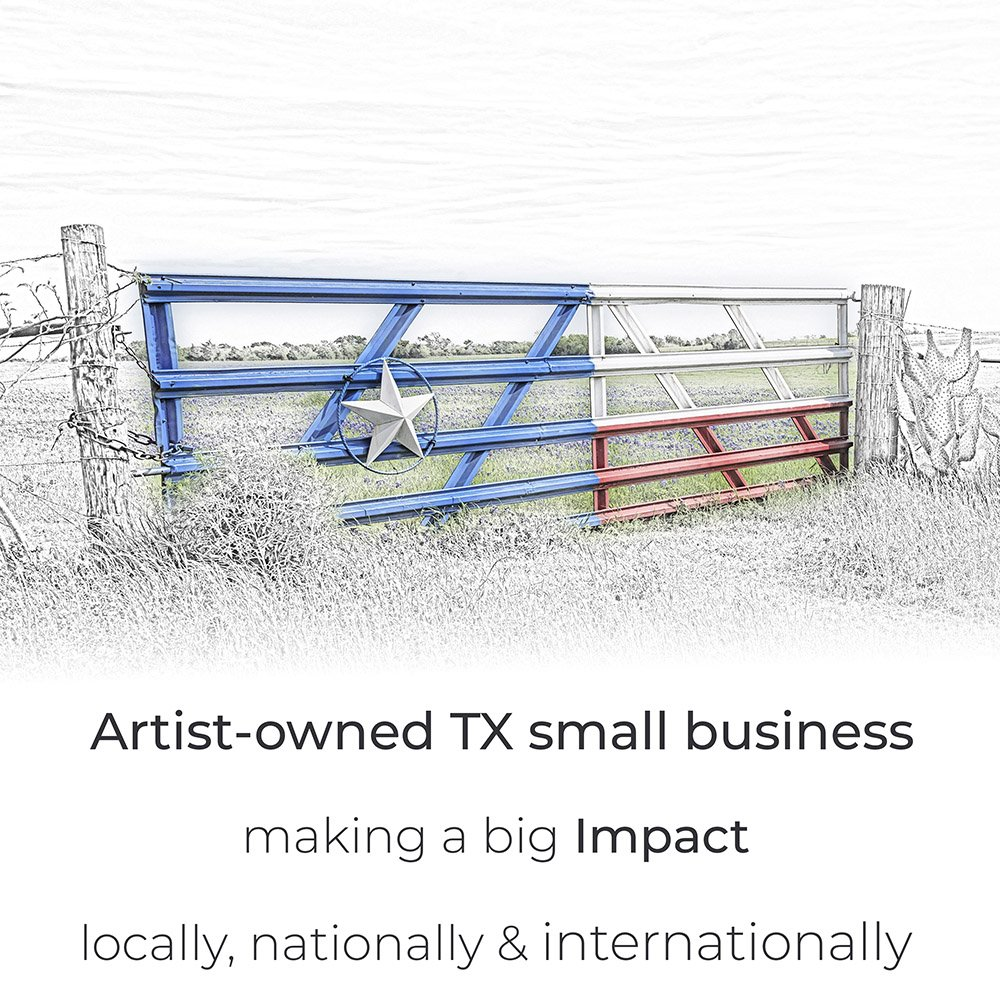 Artist-owned TX small business making a big impact locally, nationally & internationally